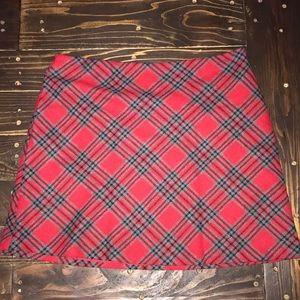 35th & 10th Wool plaid skirt